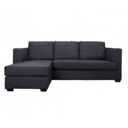 Corner Black Leather sofa