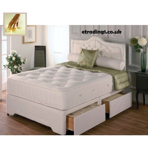 Balmoral memory foam pocket sprung divan set 4ft 4ft6 for Pocket sprung divan set