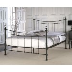 Bristol 3ft Single Metal Bedstead (Black)