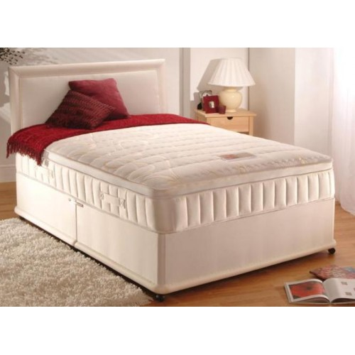 Cambridge memory foam pocket sprung divan set 4ft 4ft6 for Pocket sprung divan set