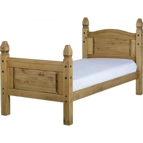 Corona Mexican Pine Single Bed