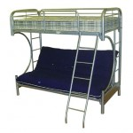 Cynthia Curved Futton Bunk Bed Silver
