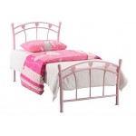Jemima Heart 3Ft Metal Bed (Pink)