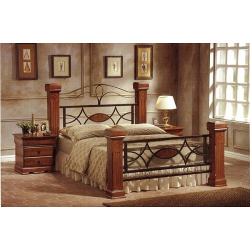 Omega Bed Wood Metal Frame