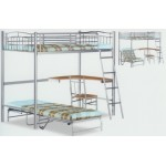 Study Metal Bunk Bed Silver