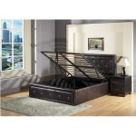 Alice GasLift Ottoman Bed (Black)